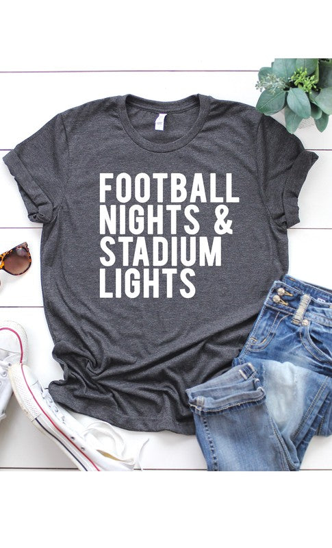 Kissed Charcoal Football Nights Women's Tee