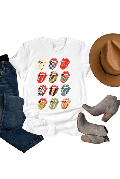 Vintage Rock N Roll Rolling Stones Lips Graphic T-Shirt