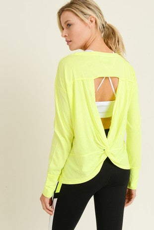 Mono B Neon Twisted Back Top