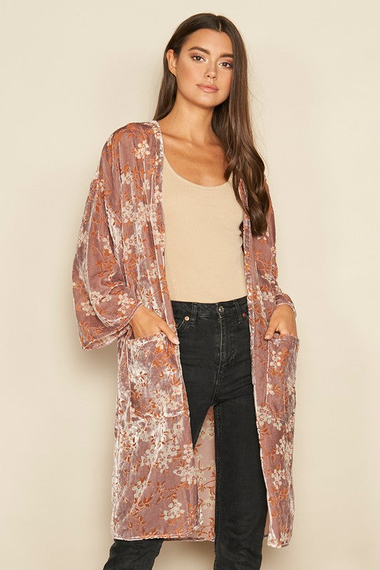 Dress Forum Antique Rose Velvet Women's Cardigan