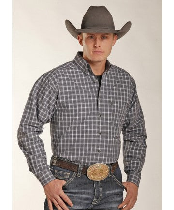 Long Sleeve Charcoal Plaid