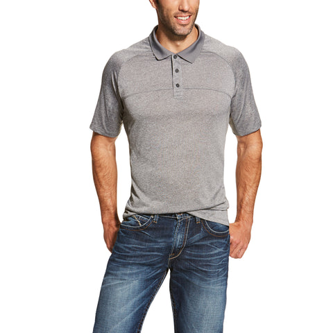 Men's Gray Charger Polo by ARIAT
