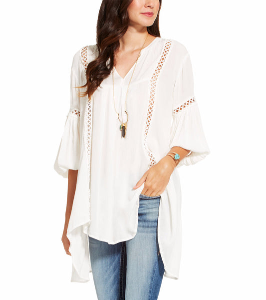 Women's Vivi White Tunic by ARIAT