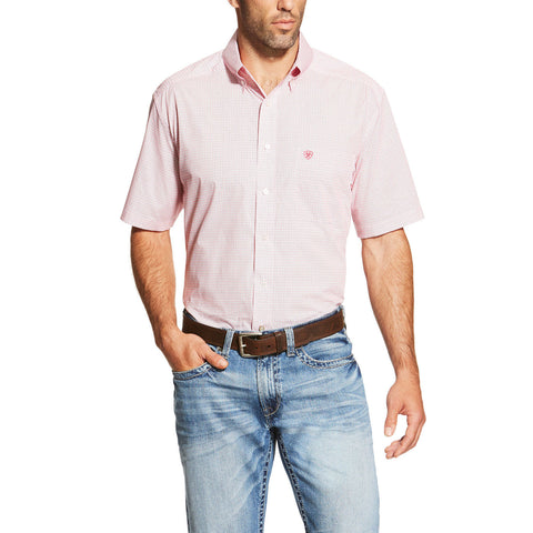 Men's Short Sleeve Newman Rose Red by Ariat