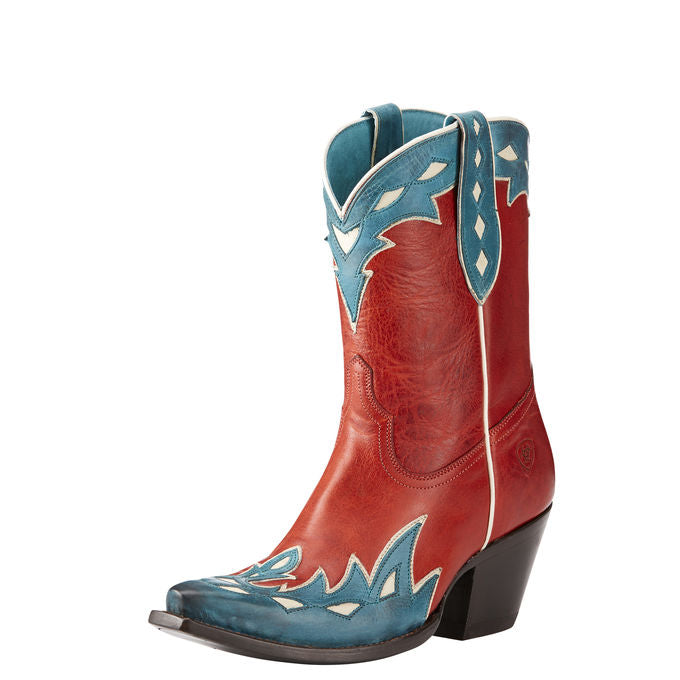 Ariat Women's Juanita Heart Throb Red Cowgirl Boots - Snip Toe