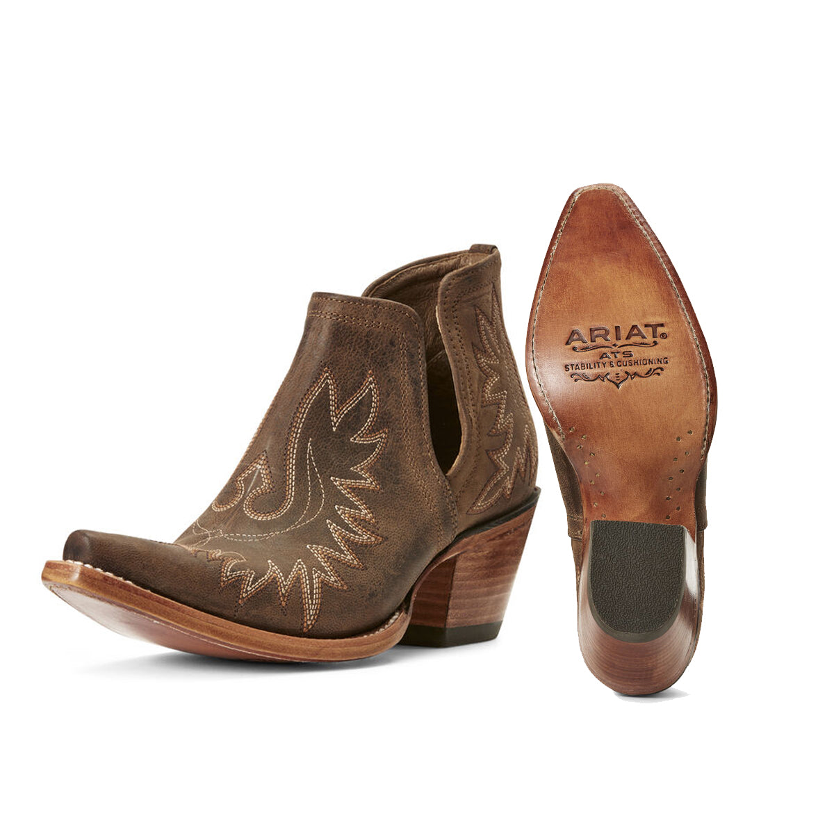 Ariat Women's Dixon Western Boots - Weathered Brown