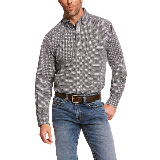 Ariat Grey Agazzi Classic Fit Men's Button Down