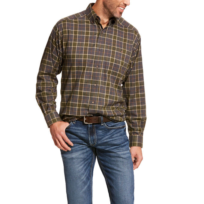 Ariat Eldridge Grey Men's Classic Fit Flannel