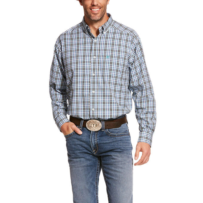 Ariat Pro Series Baccus Blue Plaid Men's Button Down