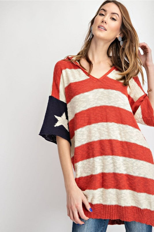 Wild And Free American Sweater