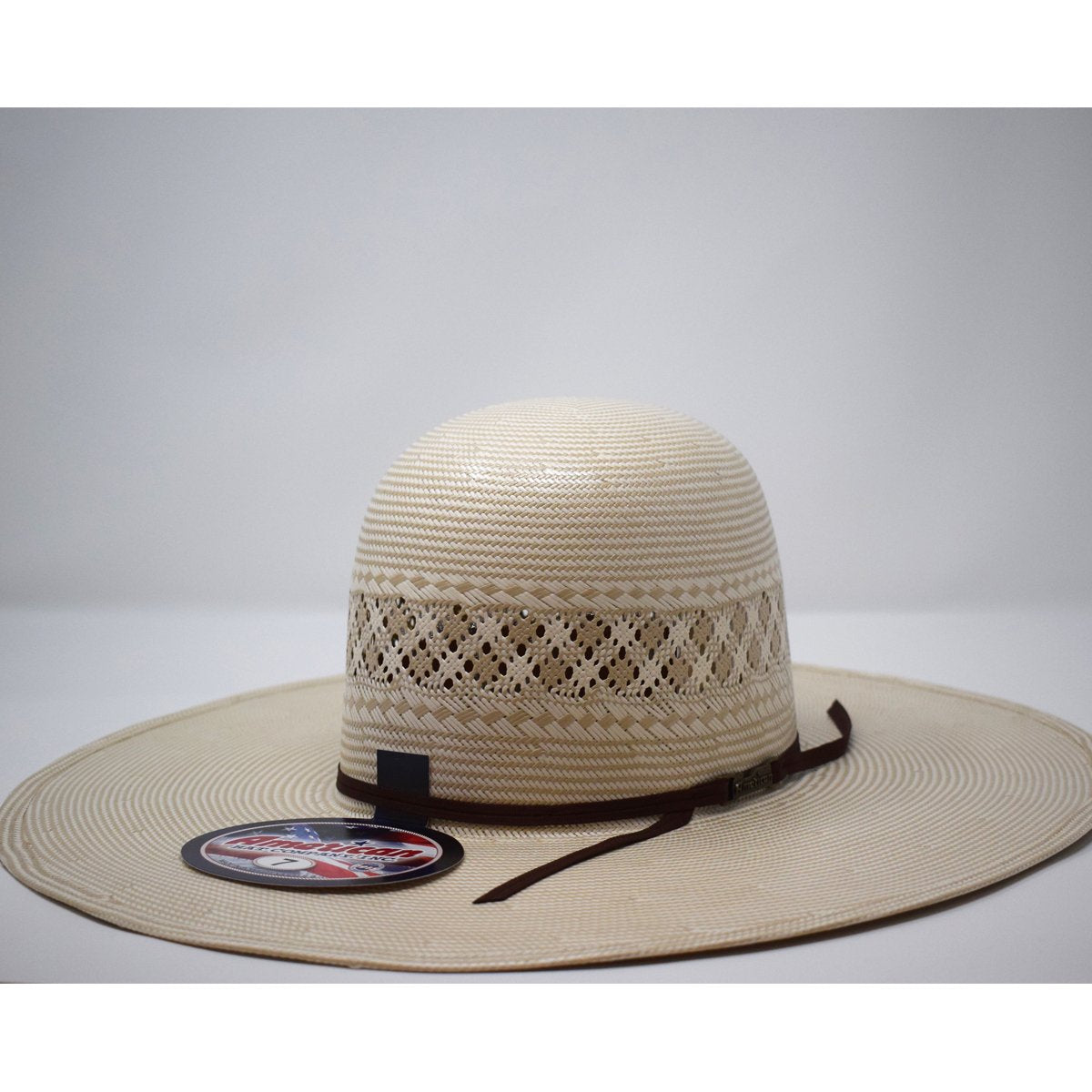 "American Hat Co. 5"" Brim Chocolate Western Straw Hat"