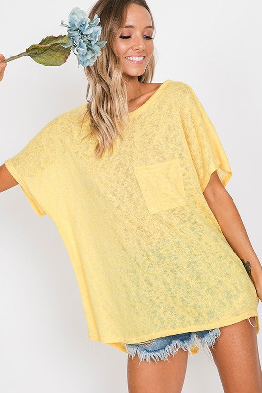 Hello Sunshine Open Back Knit Top