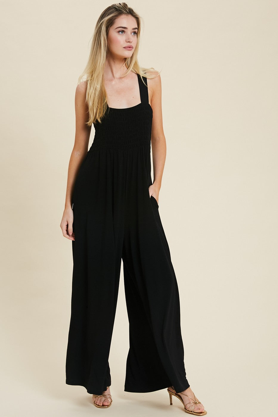Wishlist Black Wide Leg Women's Jumpsuit