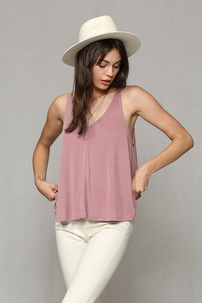Slinky Poly Washed Indian Red Tank