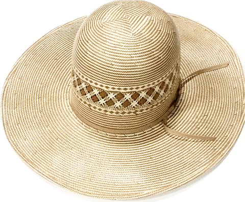 "4 1/2"" Brim Champagne Straw Hat by American Hat Co."