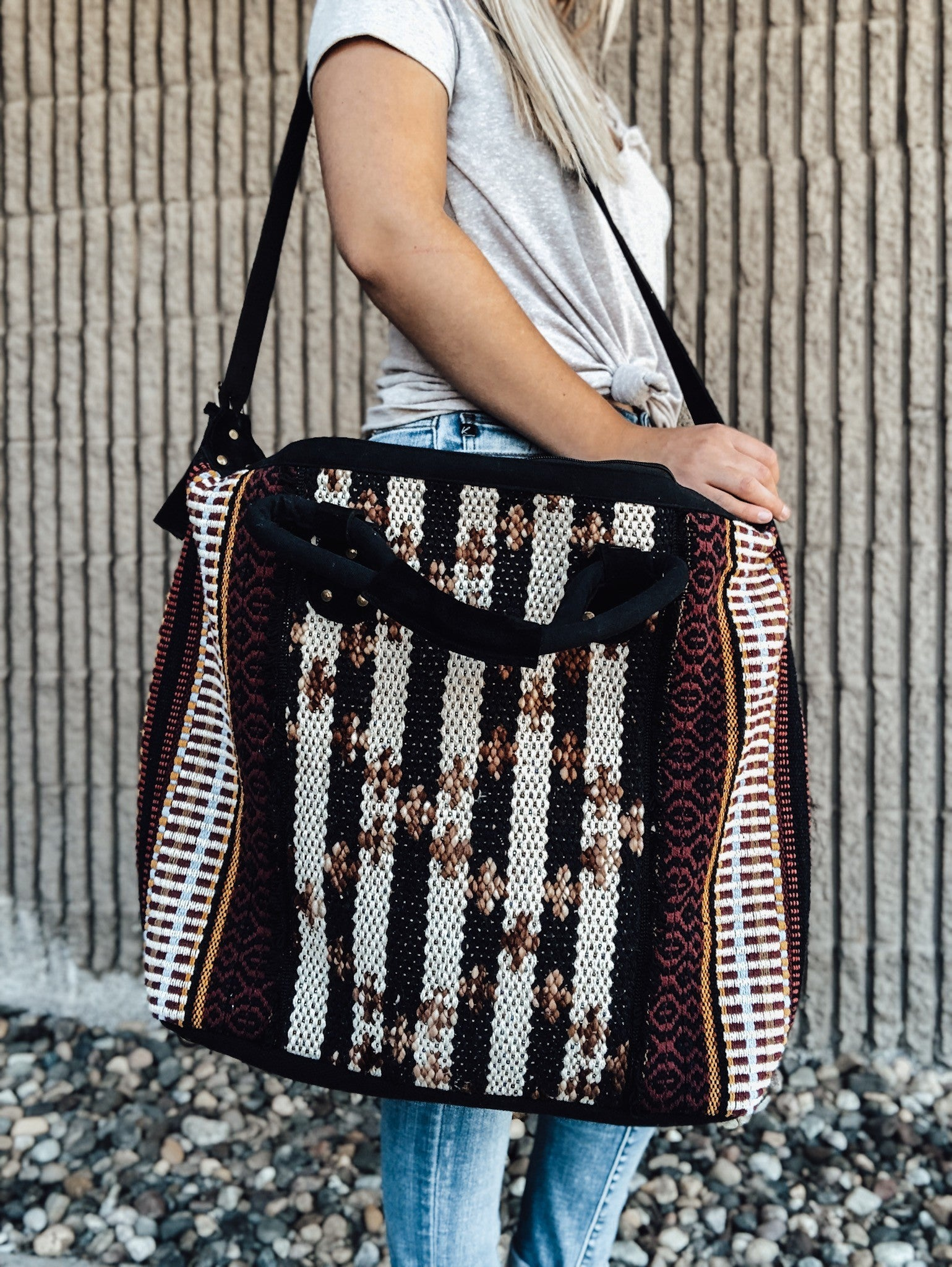 Boho Girl Tribal Carpet Hand Bag
