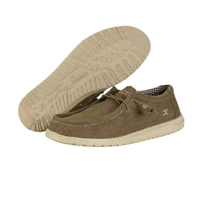 Hey Dude Men's Wally Canvas Sneakers - Nut