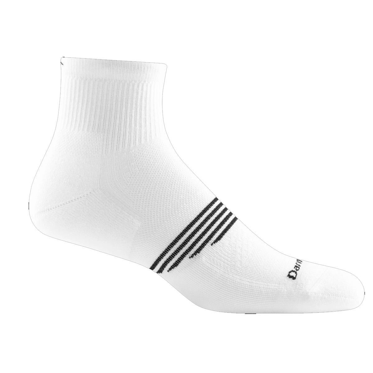 Darn Tough Men's Element Quarter Lightweight Athletic Socks - White
