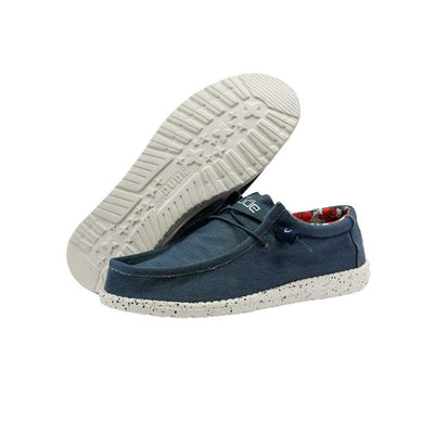 Hey Dude Wally Stretch Men's Shoes - Blue