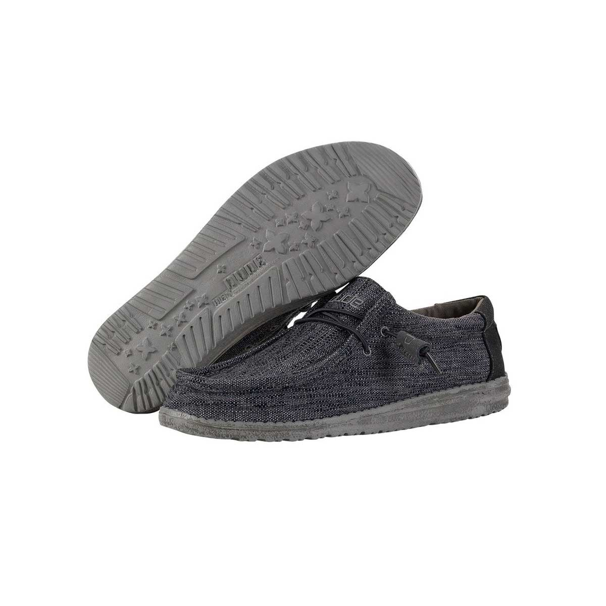 Hey Dude Wally Woven Men's Shoes - Carbon