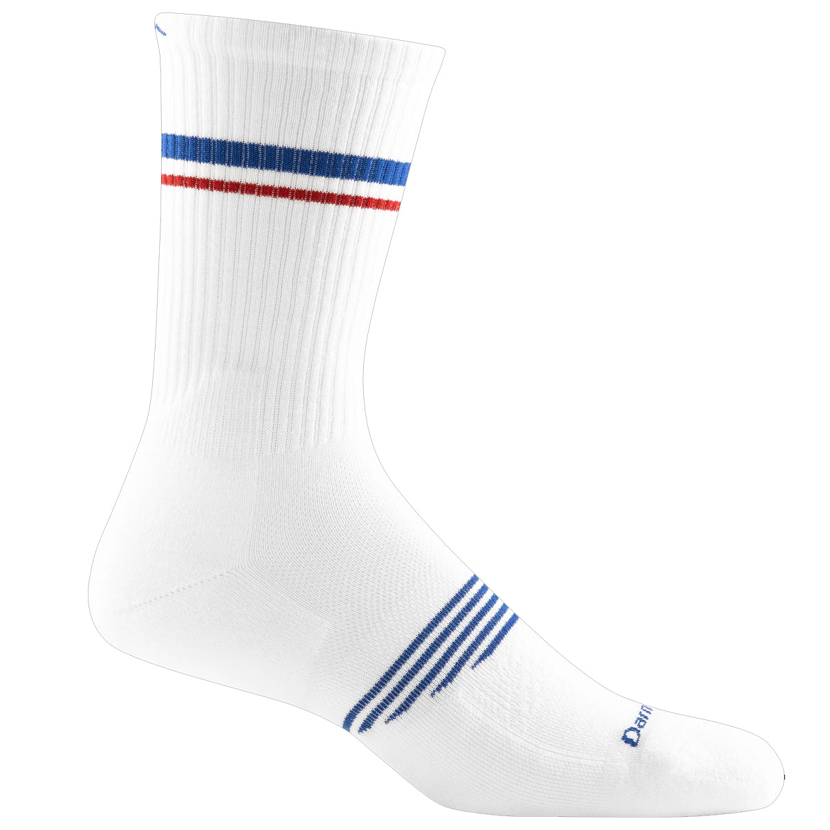 Darn Tough Men's Element Crew Lightweight Athletic Socks - White