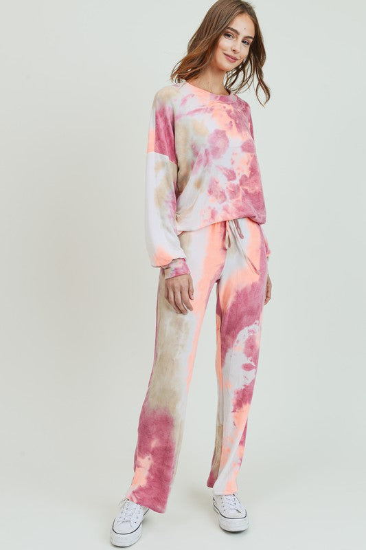 Super Soft Knit Pants Tie Dye Pants