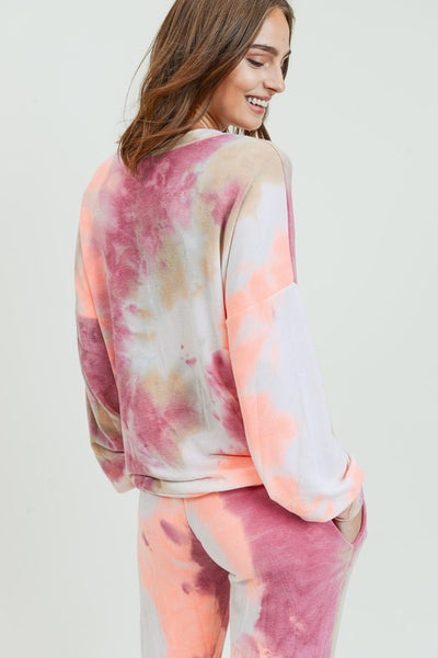 Women's Super Soft Knit Tie Dye Top