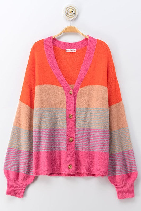 Color Me Down Puff Sleeve Cardigan