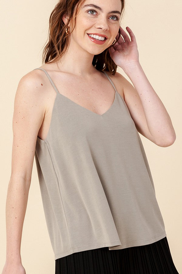 Smoke Green Cami Top