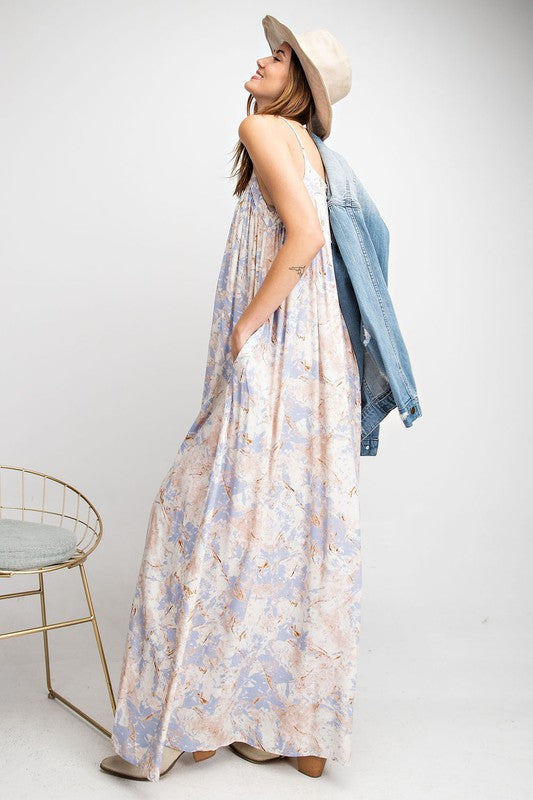 Easel Sweet Floral Printed Maxi Dress