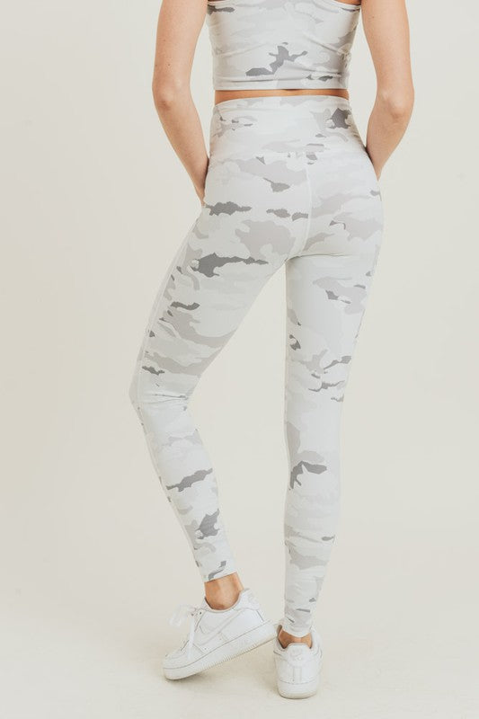 Cream Camo Legging
