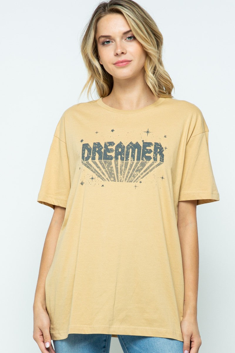 Vintage Gold Dreamer Graphic T-Shirt