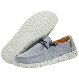 Hey Dude Wendy Chambray White Blue Shoe