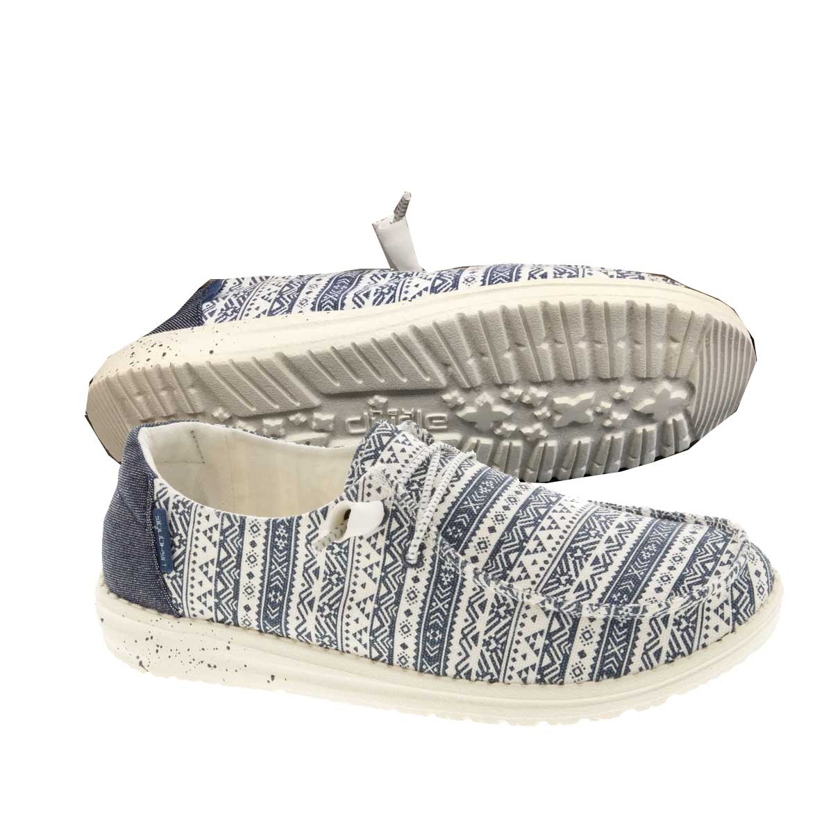 Hey Dude Women's Wendy Slip On Shoes - Blue Aztec