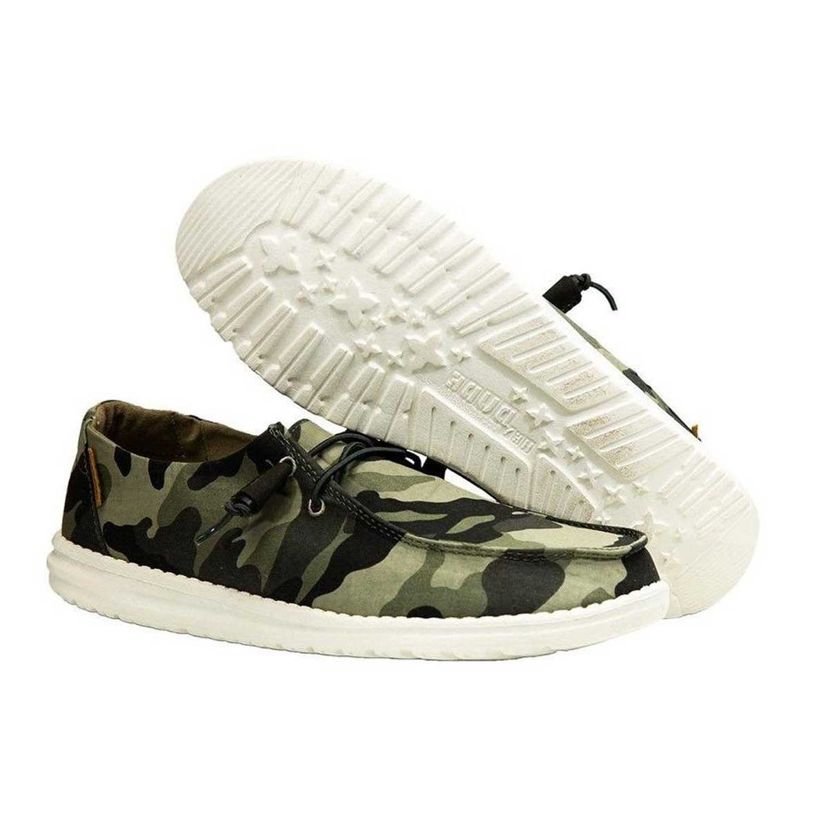 Hey Dude Women's Wendy Casual Slip On Shoes - Camo