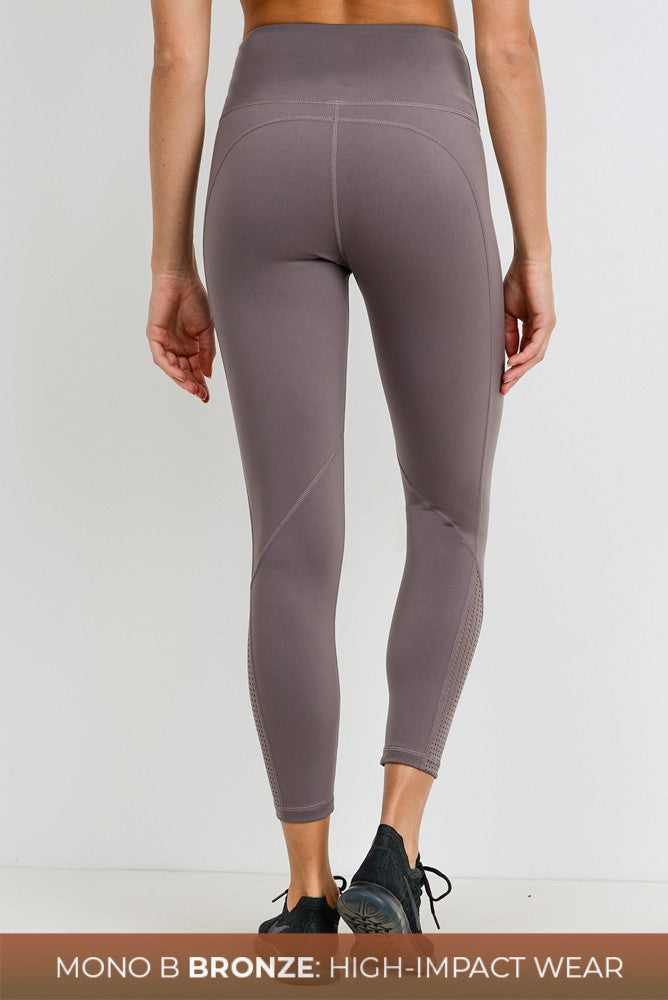 Grey Mocha Perforated Legging