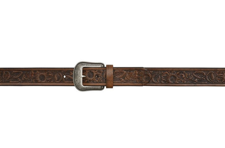 "1 1/2"" Dark Brown Men's 3D Belt"