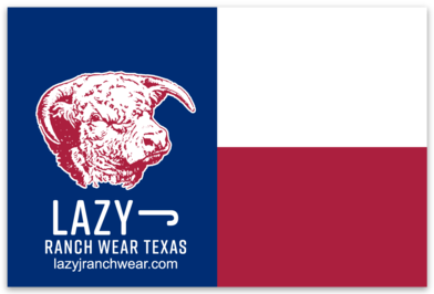 Lazy J Texas Flag Elevation Hereford Sticker Decal