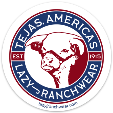 Lazy J Tejas Americas Sticker Decal