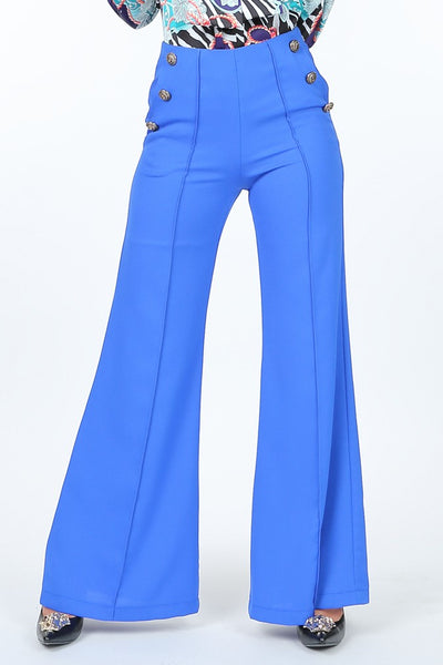 Double Breasted Royal Blue Pants