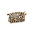 The Royal Standard Adeline Leopard Print Hide Cosmetic Bag