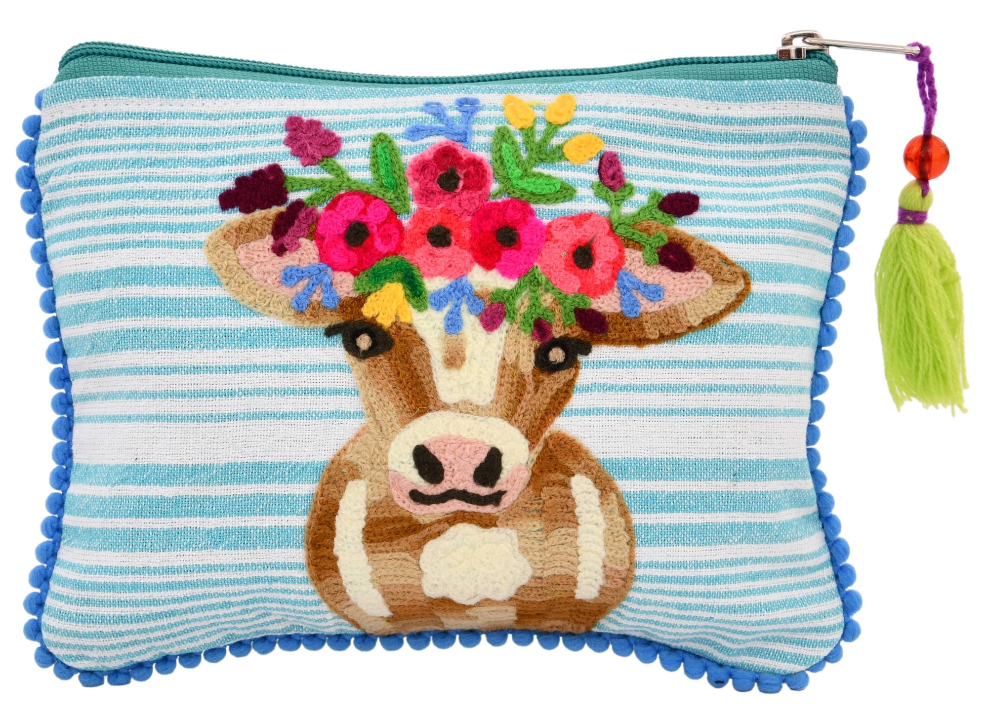 Calf on Damask Backround Pouch 6 x 8""