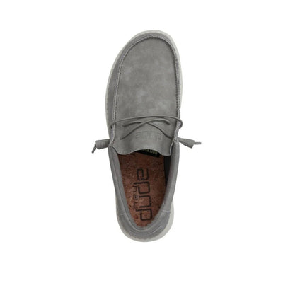 Hey Dude Men's Wally Recycled Leather Sneakers - Grey
