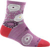 Darn Tough Women's Floral Shorty Light Violet Sock