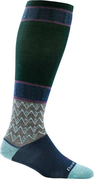 Darn Tough Women's Diamond Knee High Light Green Sock
