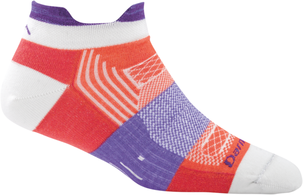 Darn Tough Women's Pulse No Show Tab Light Coral Sock