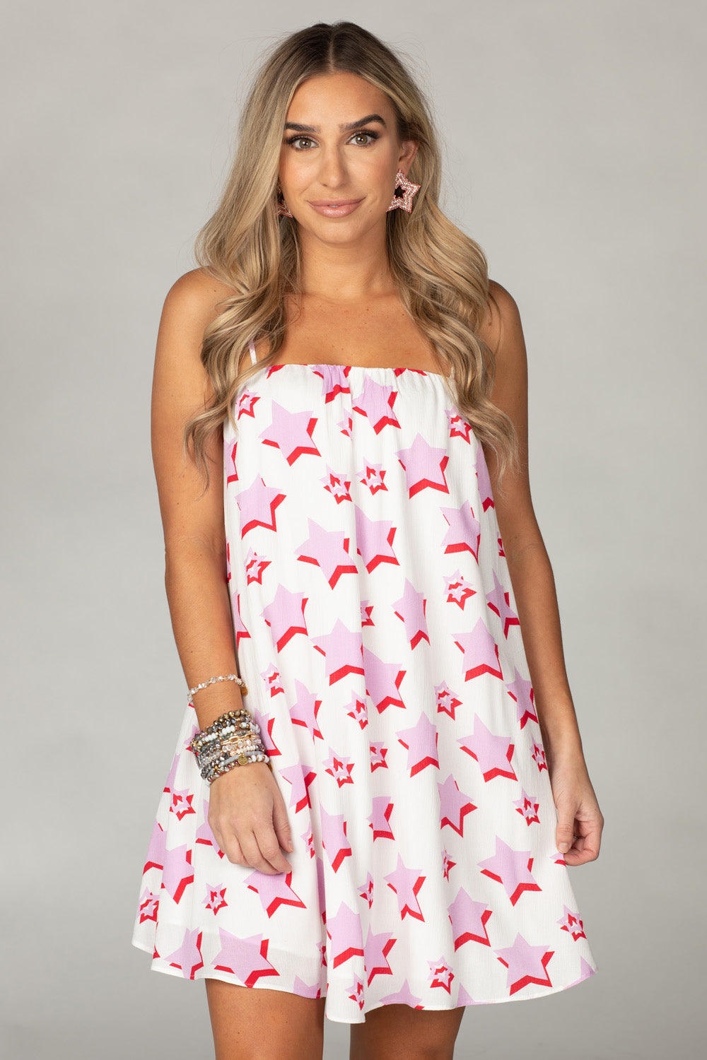 Buddy Love Sandra Pink Star Dress