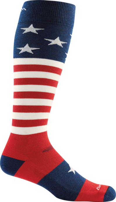 Darn Tough Men's Captain Stars and Stripe Over-the-Calf Light Sock