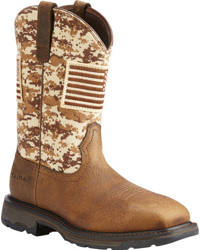 Ariat  WorkHog Patriot Earth/Sand Camo Men's Boot