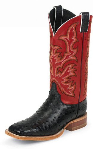 Justin Full Quill Ostrich Men's Boot, Men's Boot, Justin - Lazy J Ranch Wear